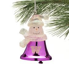 washington huskies snowman bell ornament of