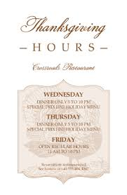 thanksgiving hours flyer thanksgiving flyer