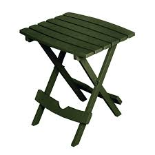 Folding Side Table Folding Outdoor Side Table In Earth Brown Durable Plastic Resin