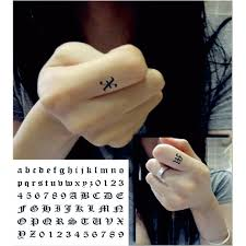 finger tattoo stickers gothic body english letters diy combination at will finger tattoos