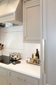 fabulous kitchen features gray cabinets painted benjamin moore