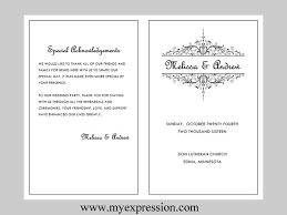 Wedding Party Program Template Wedding Program Template Word