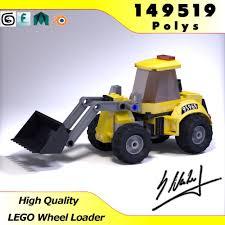 lego wheel loader high quality 3d model cgtrader