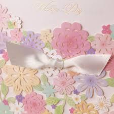 Laser Cut Invitation Cards Aliexpress Com Buy 50pcs Luxury Laser Cut Colorful Flower Lace