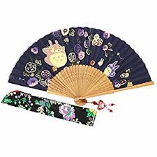 decorative fans wise bird held folding japanese fan f603 design