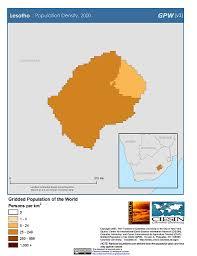 Lesotho Map Map Gallery Sedac