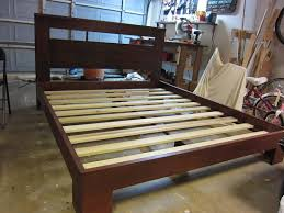 Build A Wooden Platform Bed by How To Build A Beautiful Custom Bed Frame For Under 300 For Your