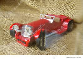 antique jaguar red car picture