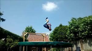 Trampoline Backyard Backyard Trampoline Tricks Youtube