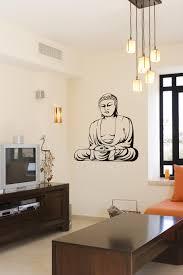 traditional buddha in meditation pose vinyl decal sticker many