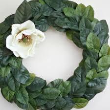 Magnolia Leaf Wreath Wreath Diy Love Of Home