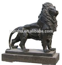 marble lion style carving large garden decorative white marble