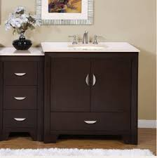 48 inch double sink bathroom vanity white marble countertop for
