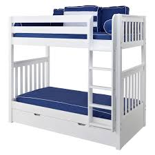 Tall Bunk Bed In White With Straight Ladder By Maxtrix - Maxtrix bunk bed