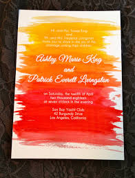 wedding invitations handmade weddings by etsy sunset