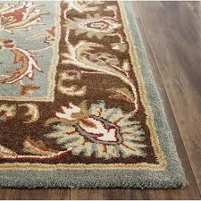 Square Wool Rug Safavieh Handmade Heritage Timeless Traditional Blue Brown Wool