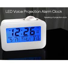 light projection alarm clock voice activated backlit voice alarm clock night light projection