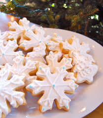 chef mommy white snowflake and christmas tree sugar cookies