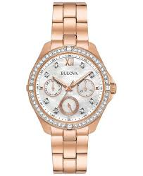 rose tone stainless steel bracelet images Bulova women 39 s rose gold tone stainless steel bracelet watch 35mm tif