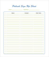 potluck signup sheet 9 free pdf word documents free