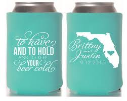 personalized wedding koozies 400 best koozies wedding party favors images on