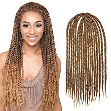 medium box braids with human hair light brown senegal crochet twist medium box braid 24 kanekalon 3
