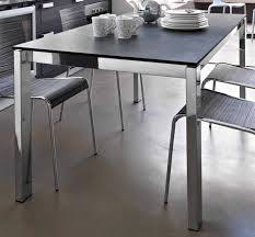Stainless Steel Dining Table Dinning Rooms Cool Stainless Steel Explandable Dining Table And