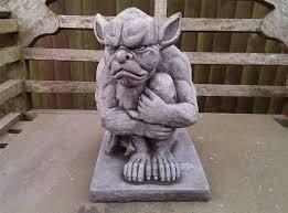 grumpy gargoyle garden ornament reconstituted superb