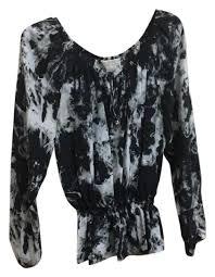 michael kors blouses michael michael kors black rn 111818 ca 45885 blouse size 12 l