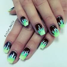 flame nail art and ombre gel mani by jackie yelp