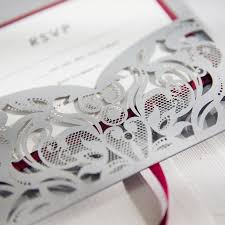 pocket wedding invitations burgundy and gray laser cut pocket wedding invitations