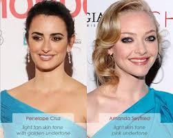 light olive skin tone hair color make up charts cool vs warm skin tone coloring penelope cruz