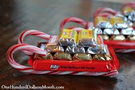 Christmas Candy Craft - diy christmas gift candy cane sleigh one hundred dollars a month