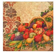 fall thanksgiving cornucopia 20 guest paper towels napkins ebay