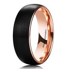 black wedding band 8mm unisex or s tungsten wedding band mens wedding rings