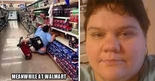 Make A Picture Into A Meme - when she falls at walmart she gets turned into a nasty meme 4