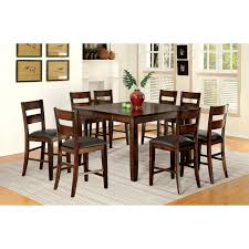 furniture of america gibson bold counter height 9 piece dining