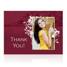 thank you cards for graduation folded graduation thank you cards photo card chef
