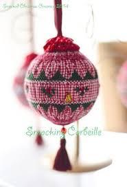 american handmade smocked ornament by grandcruefarm