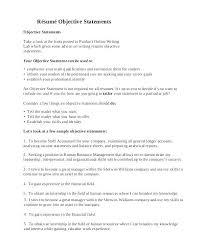 resume exles objectives statement general resume objective statement sle how to write objectives