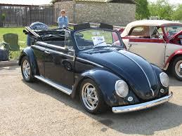 blue volkswagen convertible karmann 0705 texas vw classic