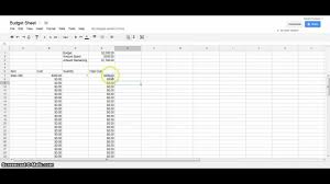 Building Cost Spreadsheet Google Docs Tutorial Budget Spreadsheet Youtube