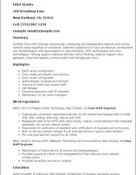 It Support Engineer Resume Sample by Download Cisco Customer Support Engineer Sample Resume