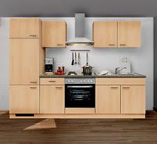 buche küche komplett küchen in frontfarbe buche ebay