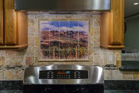 Custom Kitchen Backsplash Backsplash Murals Home Improvement Design And Decoration