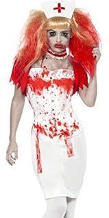 Scary Womens Halloween Costumes Amazon Com Smiffys Bloody Zombie Nurse Scary Halloween