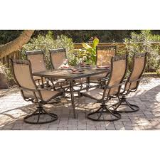 7 Pc Patio Dining Set - monaco 7 piece dining set with six swivel rockers and a 68 x 40 in