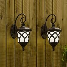 Solar Wall Sconce Photocell Included Outdoor Wall Lighting You U0027ll Love Wayfair