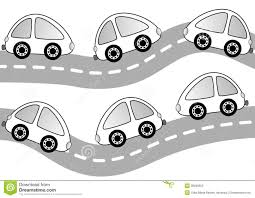 cars on the road coloring page stock photo image 38289550