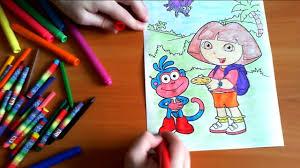 dora coloring book pages dora the explorer new coloring pages for kids colors coloring